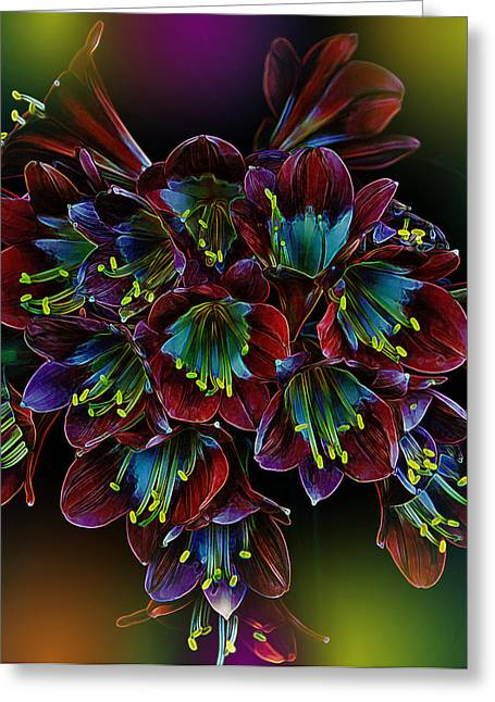 Fractal Flower Greeting Cards - Assortment of Splendor Greeting Card by Bill Tiepelman