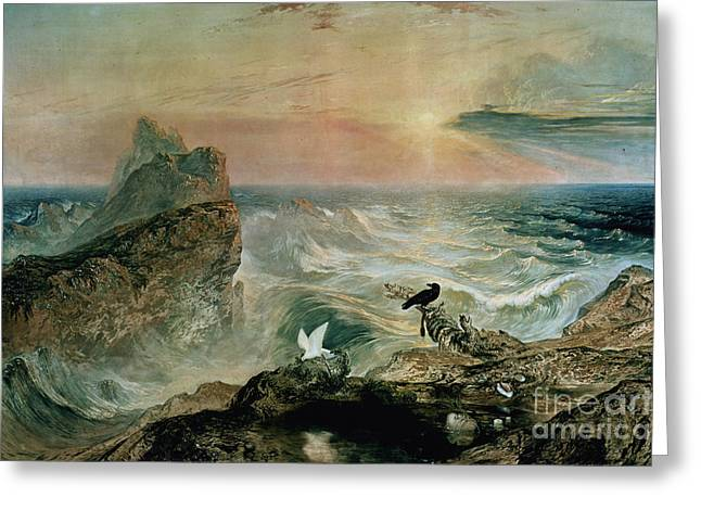 Assuaging Of The Waters Greeting Card by John Martin