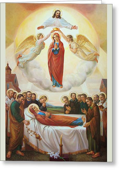 Assumption Of The Blessed Virgin Mary Into Heaven Greeting Card by Svitozar Nenyuk