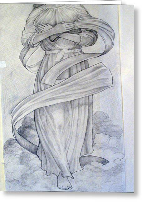 Assumption Of The Virgin Greeting Card by Patrick RANKIN
