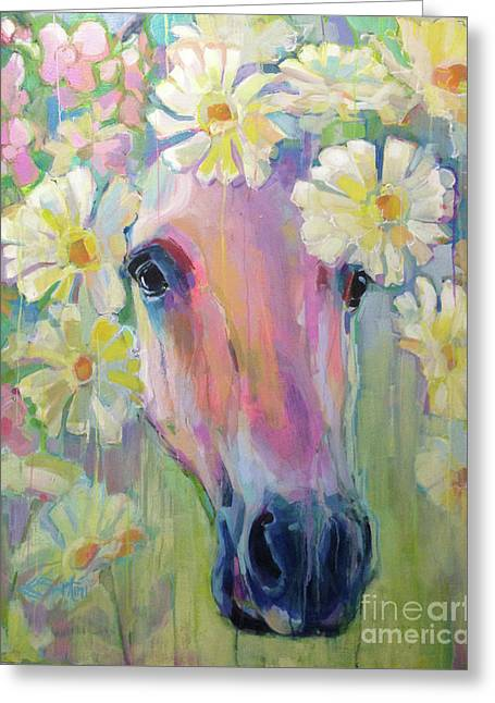 Aster Greeting Card by Kimberly Santini