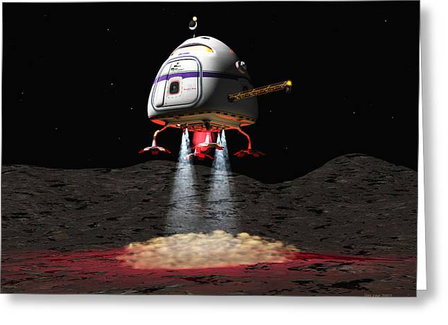 Asteroid Miners Mule Greeting Card by Jim Coe