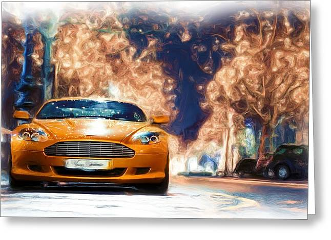 Aston Martin Canvas Prints Greeting Card by Jerry Morison