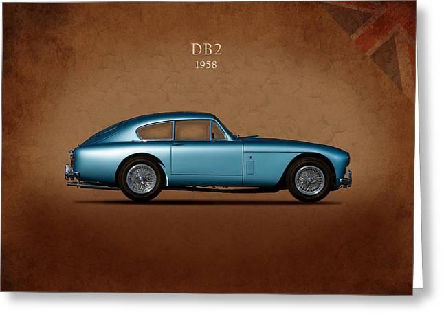 Aston Martin Db2 Greeting Card by Mark Rogan