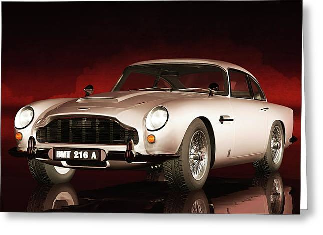 Greeting Card featuring the painting Aston Martin Db5 by Jan Keteleer