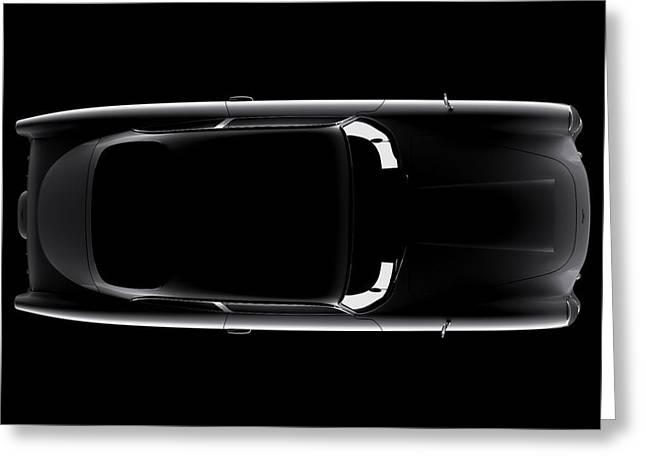 Aston Martin Db5 - Top View Greeting Card