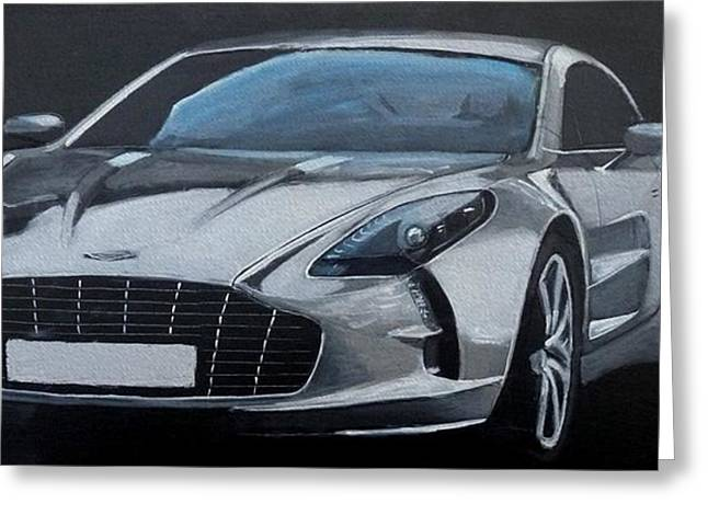 Aston Martin One-77 Greeting Card