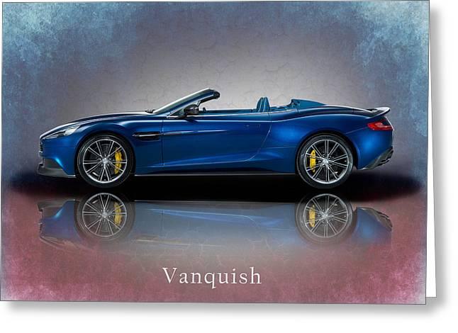 Aston Martin Vanquish Volante Greeting Card by Mark Rogan