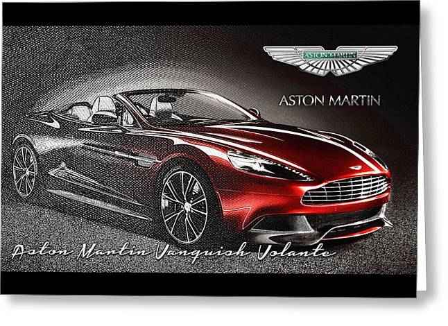 Aston Martin Vanquish Volante  Greeting Card by Serge Averbukh