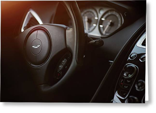 Aston Martin Vantage Greeting Card