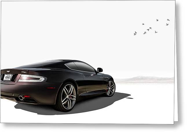 Aston Martin Virage Greeting Card