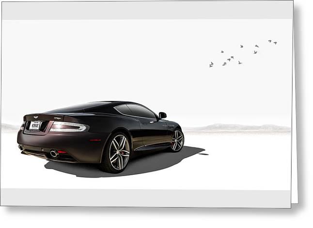 Aston Martin Virage Greeting Card by Douglas Pittman