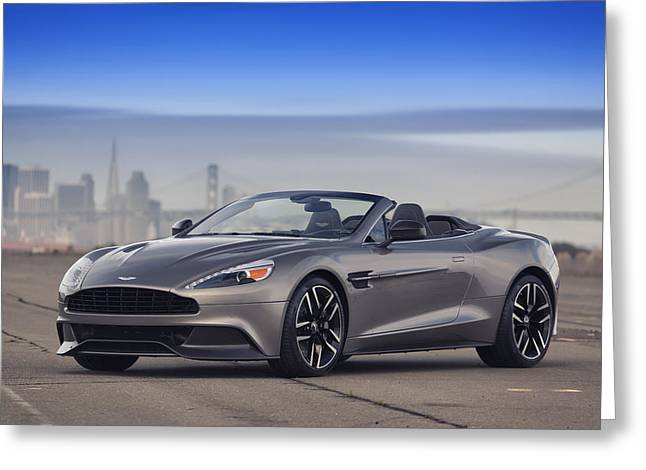 Aston Vanquish Convertible Greeting Card