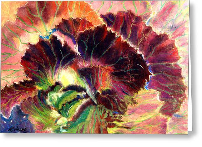 Astonishing Cabbage  Pastel Greeting Card by Antonia Citrino