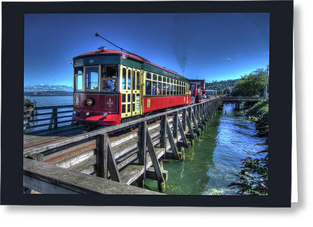 Astoria Riverfront Trolley Greeting Card
