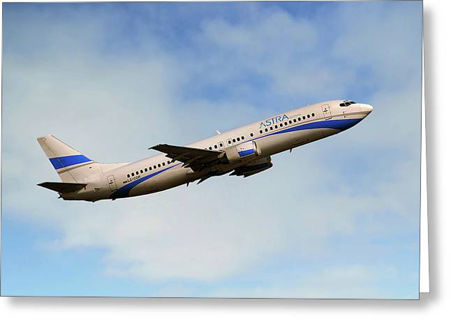 Astra Airlines Boeing 737-46j Greeting Card