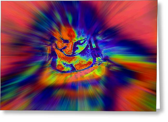 Astral Flight While Awake Greeting Card by Fania Simon