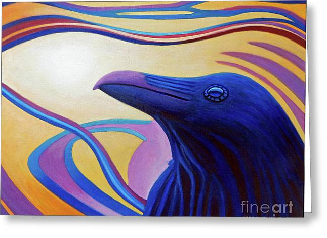 Astral Raven Greeting Card