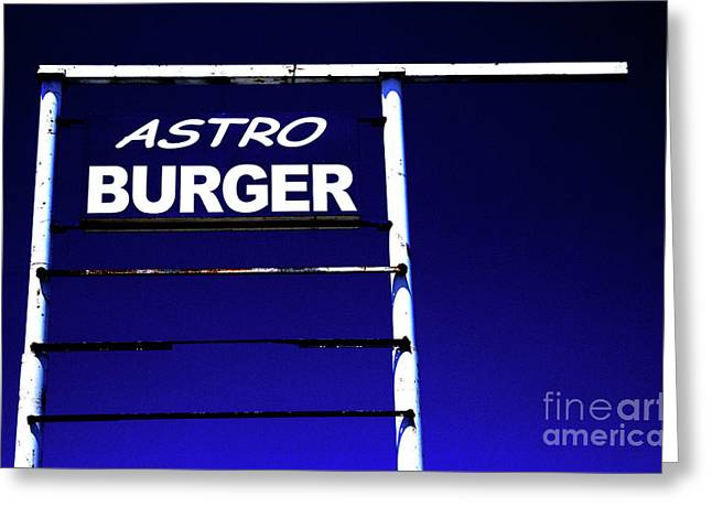 Greeting Card featuring the photograph Astro Burger by Jim and Emily Bush
