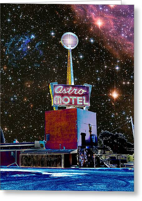 Greeting Card featuring the photograph Astro Motel by Jim and Emily Bush
