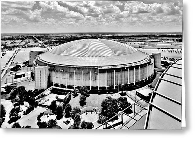 Greeting Card featuring the photograph Astrodome 5 by Benjamin Yeager