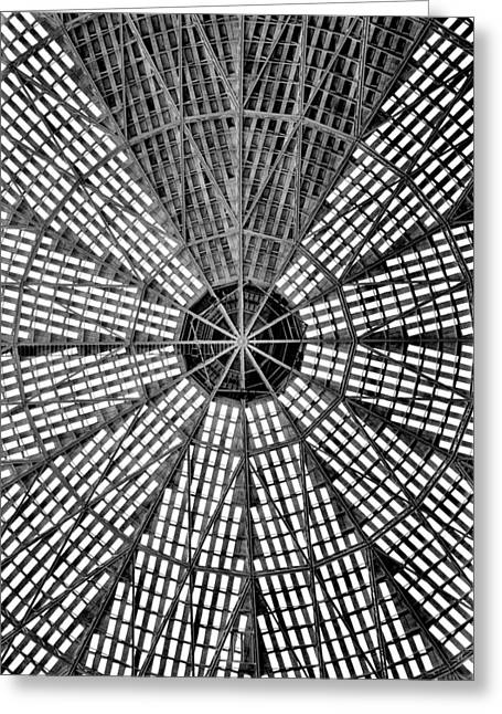 Greeting Card featuring the photograph Astrodome 9 by Benjamin Yeager