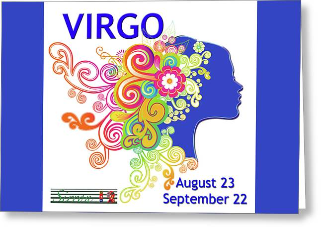 Astrology Art Virgo Greeting Card by Sirron Kyles
