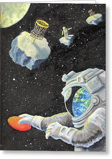 Astronaut Disc Golf Greeting Card
