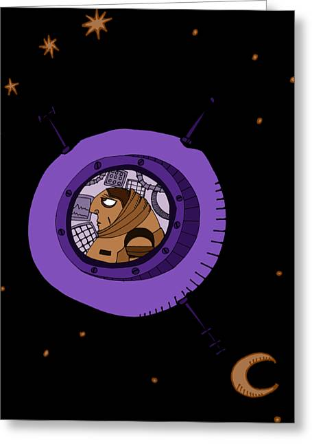 Astronaut In Deep Space Greeting Card
