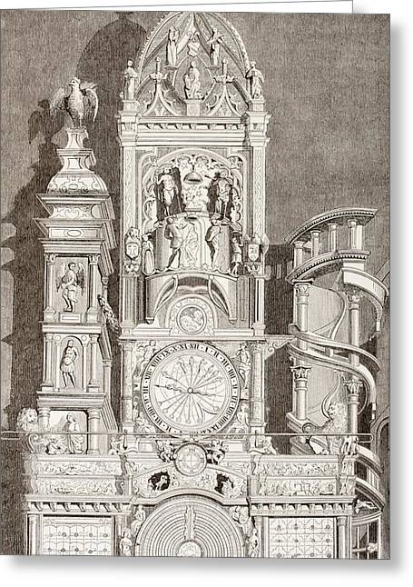 Astronomical Clock In Notre Dame Greeting Card