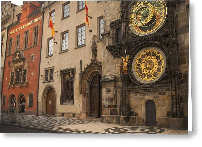 Astronomical Clock In Old Prague Greeting Card