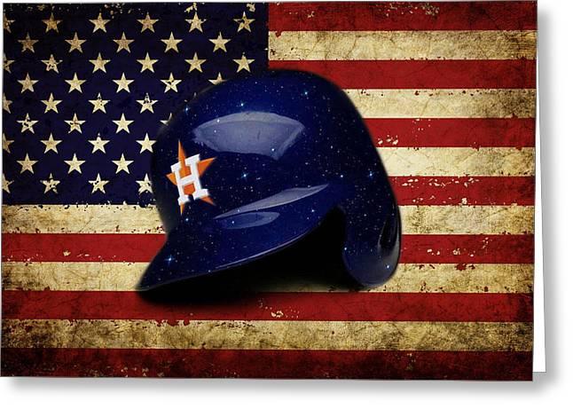 Astros Batting Helmet Greeting Card