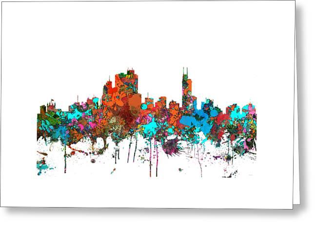 Asuncin Paraguay Skyline  Greeting Card by Marlene Watson