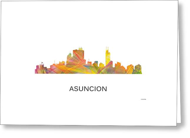 Asuncion Paraguay  Skyline Greeting Card by Marlene Watson