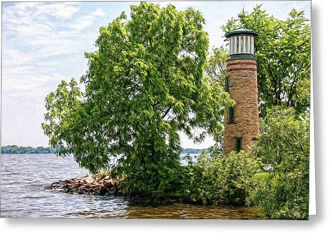 Asylum Point Lighthouse 1 Greeting Card by Trey Foerster