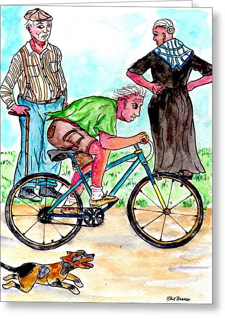 At 74 Years Old I Got My First Bike  Greeting Card
