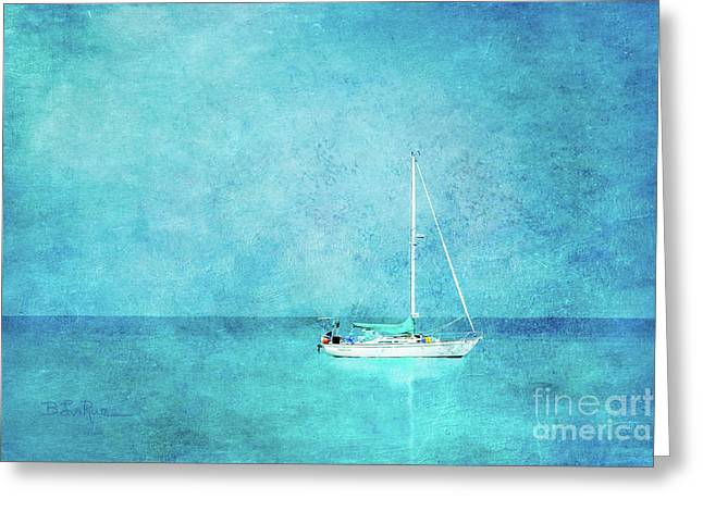 Greeting Card featuring the mixed media At Anchor by Betty LaRue