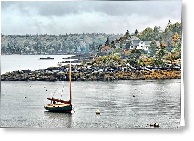 At Anchor - Maine Greeting Card