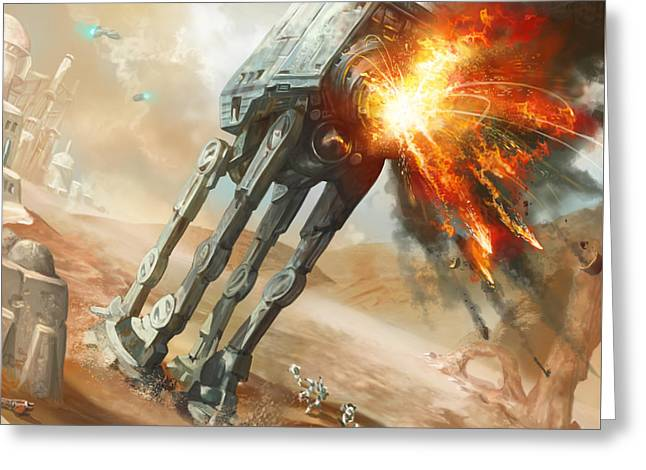 At-at Demolition Greeting Card by Ryan Barger