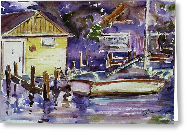 At Boat House 3 Greeting Card by Xueling Zou