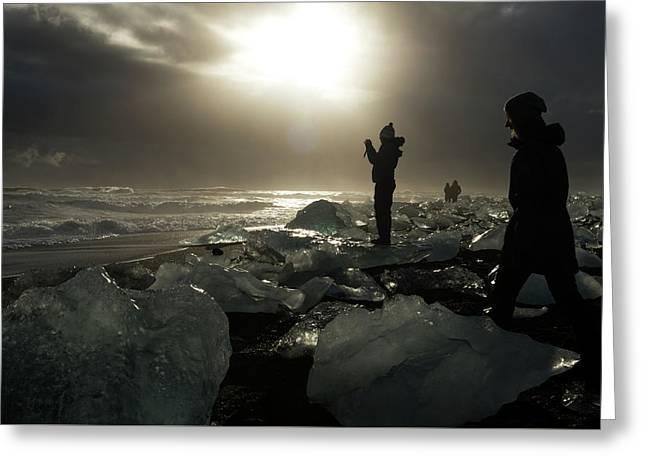 The Diamond Beach, Jokulsarlon, Iceland Greeting Card