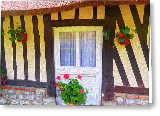 At Home In Normandy Greeting Card