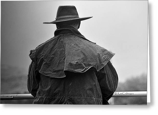 At Home On The Range #3 Black And White Greeting Card