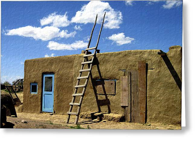 At Home Taos Pueblo Greeting Card by Kurt Van Wagner