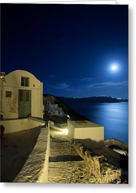 Greeting Card featuring the photograph At Midnight by Aiolos Greek Collections