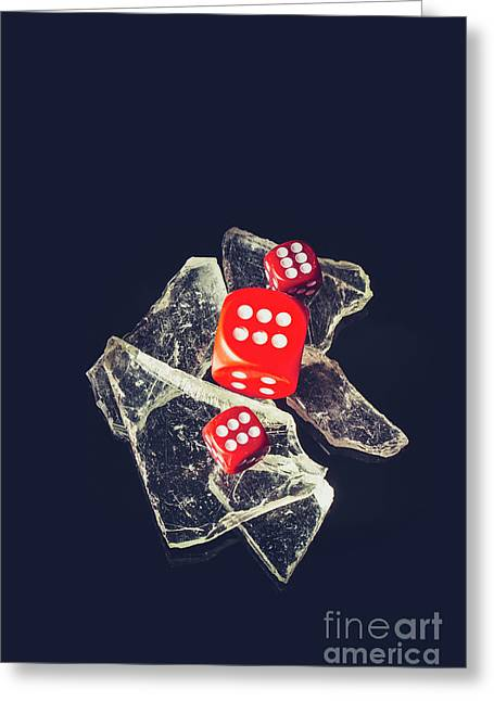 At Odds Greeting Card by Jorgo Photography - Wall Art Gallery