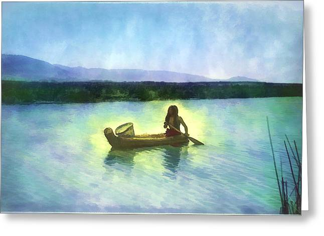 At Peace On The Water Greeting Card