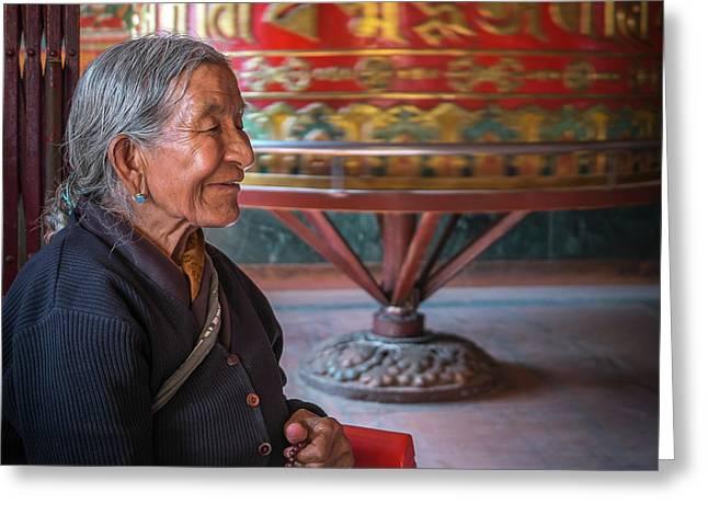 At Prayer Greeting Card