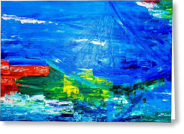 Greeting Card featuring the painting At Sea by Piety Dsilva