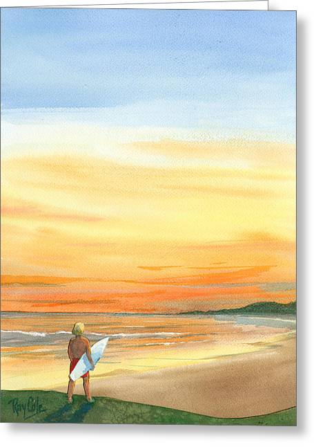 At Sunset Greeting Card by Ray Cole